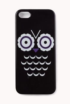 Black & White case with an Owl design.