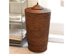 Our varnished #handmade Orchid Rattan #Laundry #Basket has a lovely oriental style lid making it perfect for hiding clutter.  Big enough to use for the whole family but not so huge as to dominate a room.  We sell a large number of laundry solutions and these Ali Baba style classics are a perennial favourite with our customers. #Home #Storage