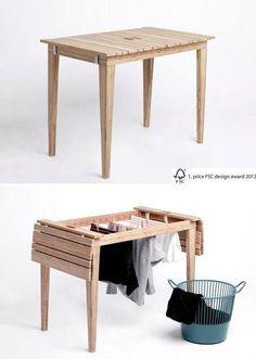 décoration, design, étendoir, table, table multi-fonctions