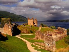 Urquhart Castle, Scotland  I have a weird thing for ruins.
