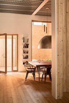 I don't like truth, ...EASTERN design office - H Arquitectes inserts courtyard home between two...
