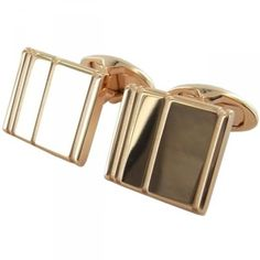 dunhill Rose gold plated dunhill lines cufflinks
