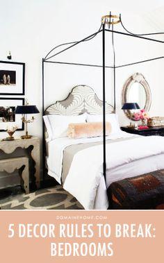 5 Bedroom Decor Rules to Break