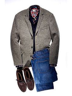 Basic jacket with jeans