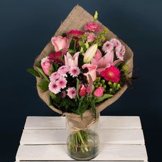 Send flowers or flower gift sets to someone special today. Send Flowers Online, Same Day Flower Delivery, Hessian, Pink Lily, Disappointment, Lilies, Dublin, Pink Roses, Floral Arrangements