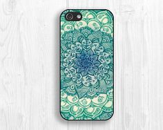 Blue Vivid floral IPhone 5S caseIPhone 5 caseIPhone 5s by LiveCase, $9.99