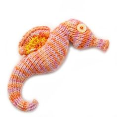 Seahorse Amigurumi Plush Toy Knitting Pattern. $4.99, via Etsy. Kid wants a knitted seahorse.