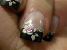 love is at your fingertips; celebrate the holiday with one of these Valentine's Day nail art design. Surprise your soul-mate with Valentine's Day Nail Designs. How To Do Nails, Fun Nails, Pretty Nails, Gorgeous Nails, Rose Nails, Flower Nails, Gothic Nail Art, Valentine's Day Nail Designs, Nails Polish