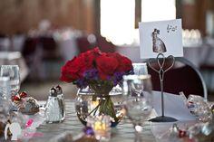 www.cwillsphotography.com   Edmonton wedding photographers, wedding details. red roses. jazz table cards