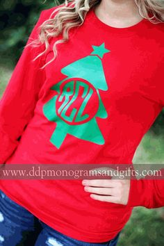 Personalized gifts for all occasions - baby, wedding, graduation and more; adding a personal touch is easy when you shop with us. Christmas Monogram Shirt, Christmas Shirts For Kids, Christmas Vinyl, Xmas Shirts, Christmas Tree, Hallmark Christmas, Christmas Movies, Family Christmas, Vinyl Monogram