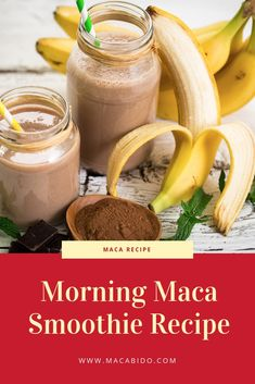 Looking for a way to start your morning off on the right foot? Try our powerful maca smoothie recipe. As an added bonus, not only does our maca smoothie support energy and vitality, it also boosts libido! Raspberry Smoothie, Juice Smoothie, Smoothie Drinks, Fruit Smoothies, Healthy Smoothies, Healthy Drinks, Breakfast Smoothies, Date Smoothie Recipes, Healthy Recipes