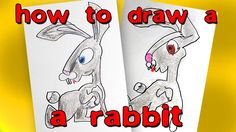 How to draw a rabbit from Masha and the Bear