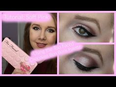 Tutorial: Soft pink look using the Too Faced Bon Bons palette! - YouTube