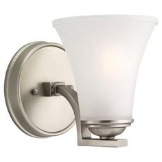 Sea Gull Lighting - 1 Light Antique Brushed Nickel Incandescent Sconce - 41375-965 - Home Depot Canada