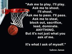 Lebron James Cleveland Cavaliers Quote Poster by ArleyArtEmporium, $11.99