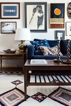 Happy Interior Blog - love the color palette in this living room