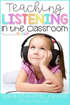 7 ideas for teaching listening skills in the classroom. Whole body listening activities and books, class games, and daily practice ideas and a FREEBIE are included! First Grade Classroom, Primary Classroom, Kindergarten Classroom, Classroom Activities, Classroom Ideas, Classroom Organization, Eyfs Classroom, Kindergarten Freebies, Free Activities