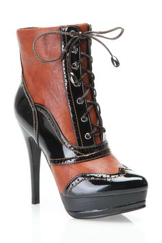 Two Tone Lace Up Boot .. love them