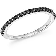 Bloomingdale's Black Diamond Band in 14K White Gold, 0.20 ct. t.w. -... ($250) ❤ liked on Polyvore featuring jewelry, rings, 14 karat white gold ring, black diamond ring, bloomingdales jewelry, 14k white gold jewelry and white gold band ring