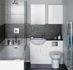 Petite salle de bain look moderne…