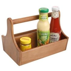 This Summers Bamboo Condiment Holder Totes Picnic Condiments - Condiment holder for table