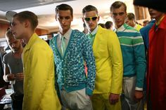 Backstage at Salvatore Ferragamo Men's Spring 2013