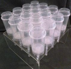 16 ct PushUp Pop Containers with Acrylic Stand by AmazingAcrylic, $40.00
