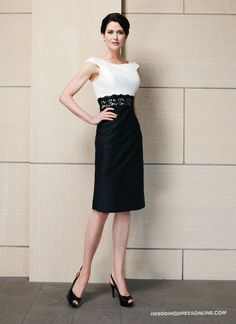 ilk Asymmetrical Draping Knee Length Mother of The Bride Dress with Free Jacket