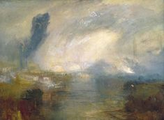 Joseph Mallord William Turner - The Thames Above Waterloo Bridge c.1830-35] | by Gandalf's Gallery   - This unfinished painting Turner's view dates from the 1830s and he was perhaps planning a response in kind to John Constable's Opening of Waterloo Bridge (Tate), which appeared at the Royal Academy in 1832.