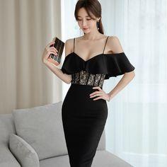 宴会 パーテイー エレガント 綺麗め 女性らしい Ruffle Dress, Peplum Dress, Strapless Dress, Beautiful Asian Women, Beautiful Models, Korean Girl Fashion, Good Looking Women, Colorful Fashion, Fashion Outfits