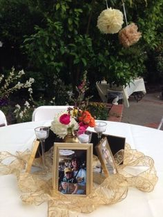 Photo centerpieces for 50th birthday party decorations See more