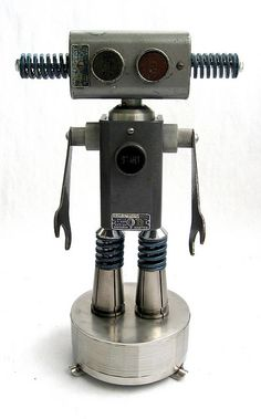 SquareD 452- Found Object Robot Assemblage Sculpture by Brian Marshall by adopt-a-bot, via Flickr
