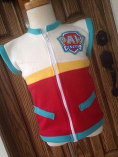 Paw Patrol Ryder Vest Jacket by sassybratboutique on Etsy