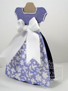 Princess Dress Card - links to a site where you can pay for the template