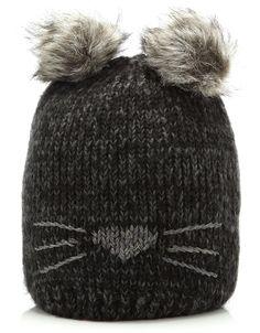 Cat PomPom Beanie - Accessorize