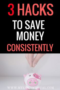 Money saving tips. Frugal ideas. If you are looking for ways to save money fast you are in the right place. I got 3 simple hacks to save money consistently.