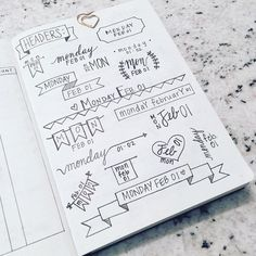 """""""Need a little or inspiration? Check out this post from Lots of breast ideas inspire your - Bullet Journal Planner Ideas. Planning and organization. Bullet Journal Junkies, Bullet Journal Inspiration, Banners Bullet Journal, Bullet Journals, Art Journals, Journal Layout, Journal Pages, Journal Ideas, Filofax"""
