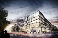 "Busbetriebshof ""Hybrid.M"" Moosach JSWD Architekten 2014 #infrastructure #office http://rdt.ac/e947"