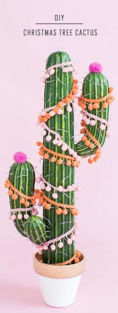 A DIY Christmas tree cactus idea to keep things interesting (and warm) this December...