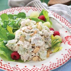 This tasty Tarragon Chicken Salad is an easy-to-prepare meal full of flavor from tender grilled rotisserie chicken, Dijon mustard, fresh tarragon, and toasted almonds.    Save Recipe Print  Tarragon Chicken Salad