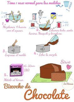 Bizcocho faciliiisimo de chocolate. https://www.facebook.com/pages/Irihouse/122119204632451