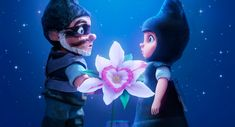 Gnomeo and Juliet then have secret meetings in a secret garden, where they meet a pink plastic flamingo named Featherstone (Jim Cummings). Description from moviesimple.blogspot.com. I searched for this on bing.com/images