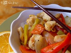 Orange Chicken and Vegetable Stir Fry Food you can love, love, love!  Without all the chub, chub, chub!   Delicious, low-cal and healthy.