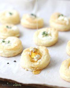 / Savory Goat Cheese and Honey Bites