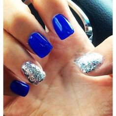 Acrylic Nails Glitter ❤ liked on Polyvore featuring beauty products, nail care, nail treatments, nails and makeup
