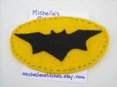 Hey, I found this really awesome Etsy listing at https://www.etsy.com/listing/251778385/batman-symbol-felt-brooch