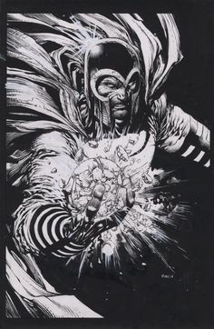 "astonishingx: "" Magneto's Monday: Ultimate Magneto by David Finch "" Comic Book Artists, Comic Artist, Comic Books Art, David Finch, Comic Villains, Comic Kunst, Marvel Comics Art, Black And White Drawing, White Art"