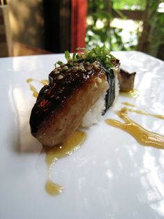 The absolute best thing I've ever put in my mouth. Foie Gras negiri at Uchi. INSANE