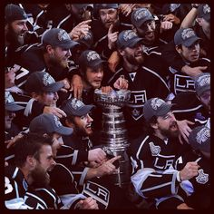 And their first Stanley! Hockey Teams, Hockey Players, Ice Hockey, La Kings Stanley Cup, Stanley Cup Champions, Kings Hockey, Hockey Girls, Hockey Mom, King Baby