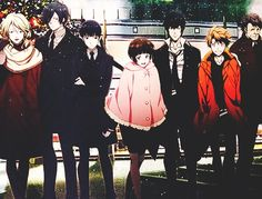 Official Art psycho pass tsunemori akane Kougami Shinya kunizuka yayoi kagari shuusei masaoka tomomi ginoza nobuchika karanomori shion look at gino being a cockblock between shion and yayoi tho and -zeros in on shinkane- ayyyyy All Anime, Manga Anime, Ginoza Nobuchika, Natsume Yuujinchou, Psycho Pass, Black Angels, Yayoi, Noragami, Anime Shows
